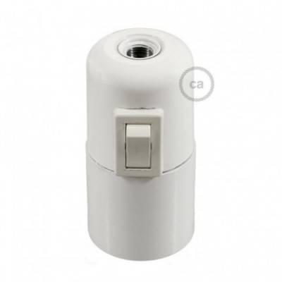 Kit portalámparas de baquelita E27 con interruptor
