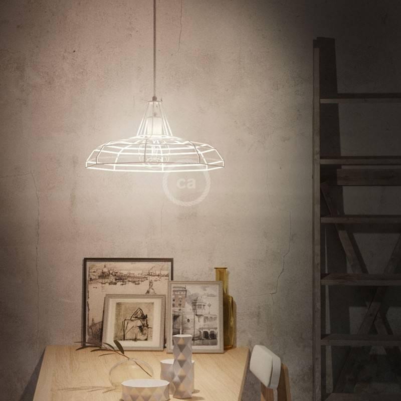 Pantalla Jaula para lámpara Sonar XL de metal con portalámparas E27