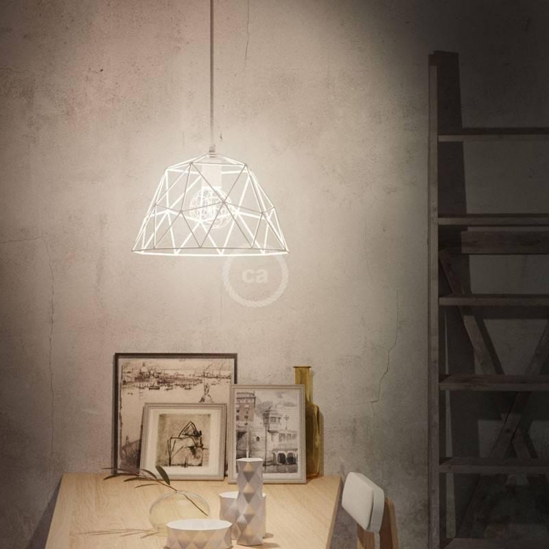 Pantalla Jaula para lámpara Dome XL de metal con portalámparas E27