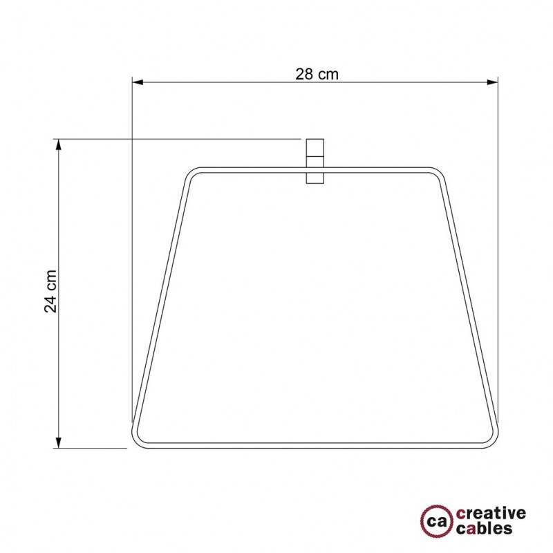 Pantalla de metal Duedì Base con cubre portalámparas de metal y portalámparas E27