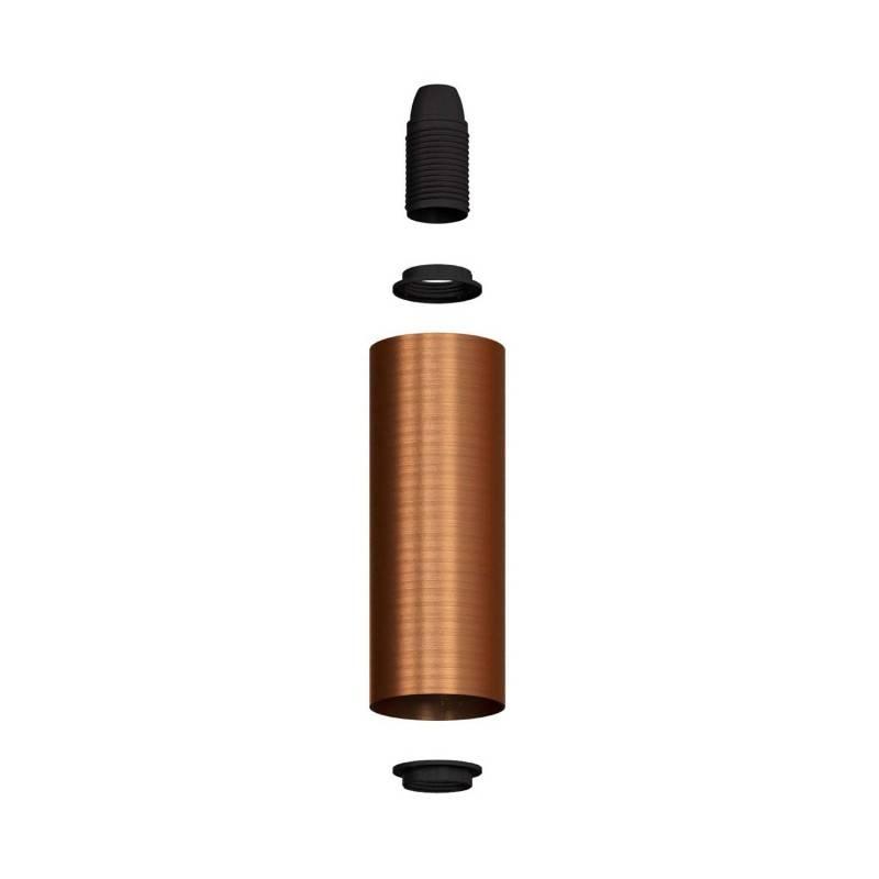 Tub-E14, tubo de metal para foco con portalámparas doble arandela E14