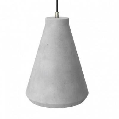 Pantalla de cemento Embudo para lámpara de suspensión, incluye portalámparas E27 y prensaestopa