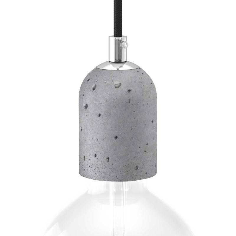 Kit portalámparas E27 de cemento