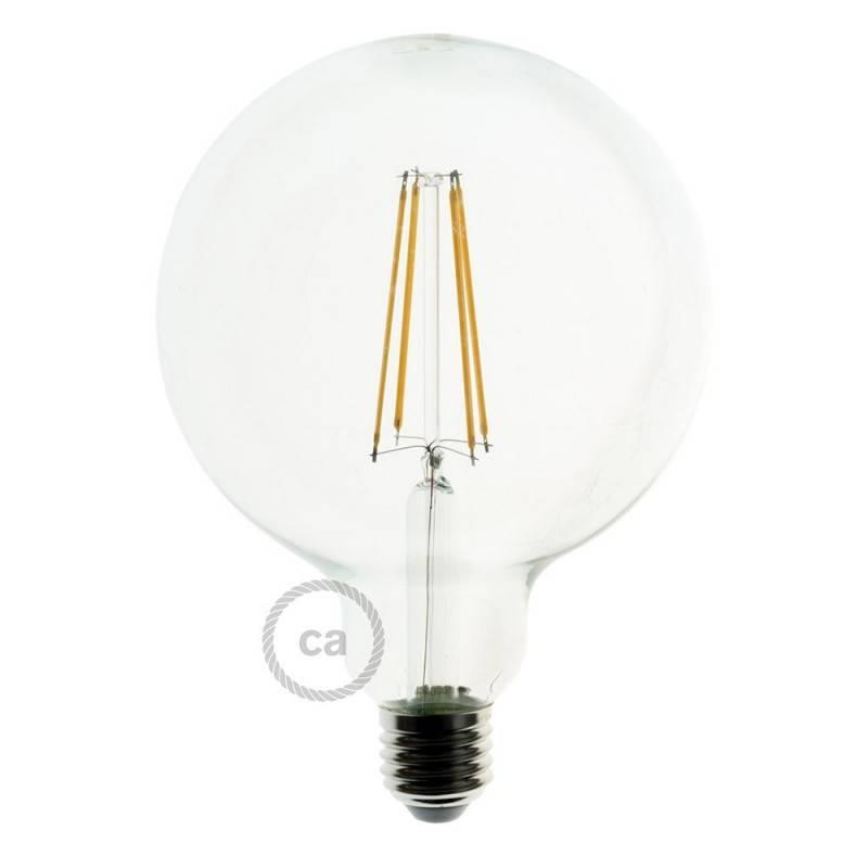 Lámpara colgante hecha en Italia con cordón náutico XL, bombilla y portalámparas en corteza Grande