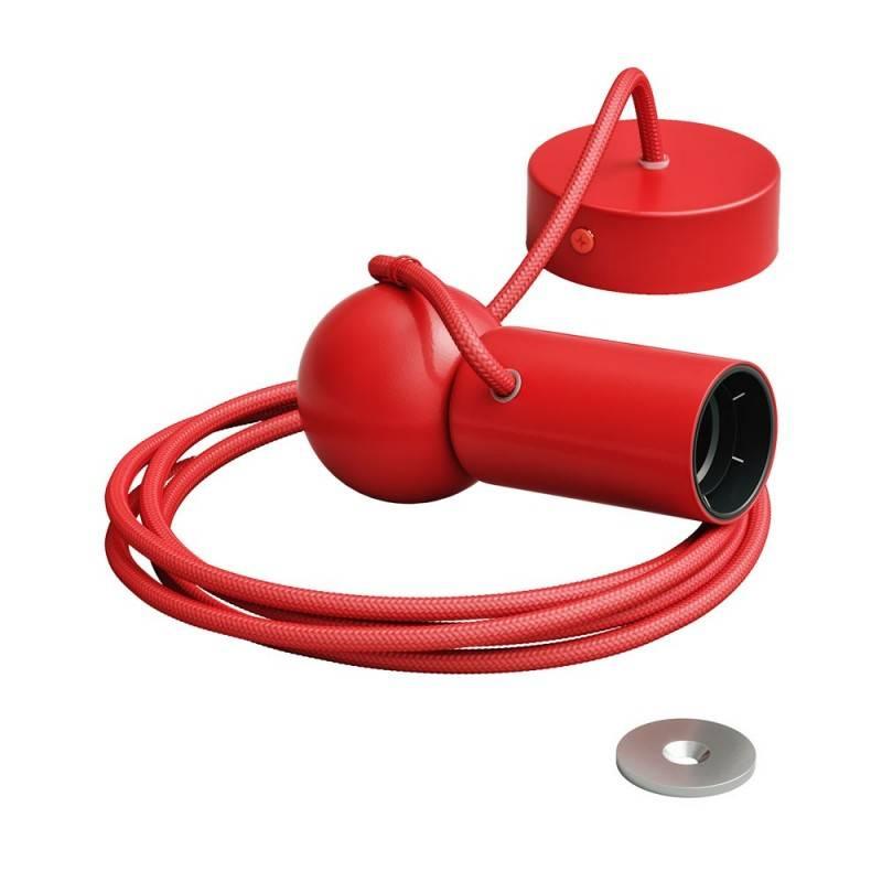 Lámpara de suspensión Magnetic®-Pendel con cable textil y portalámparas magnético ajustable