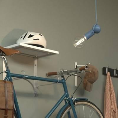 Lámpara de suspensión Magnetic®-Pendel con cable textil, bombilla y portalámparas magnético ajustable