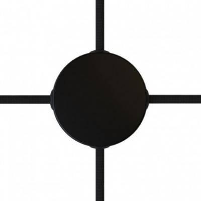 Kit Mini rosetón cilíndrico de metal con 4 agujeros laterales (caja de conexiones)