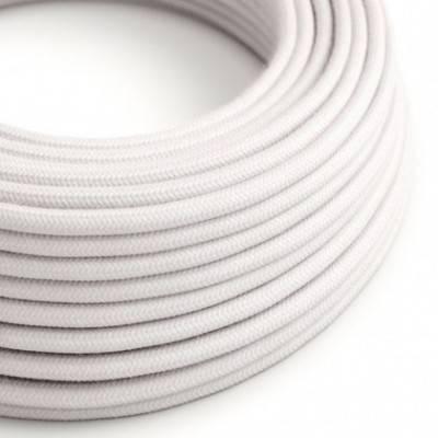 Cable eléctrico redondo cubierto por tela de algodón liso de color Rosa pálido RC16