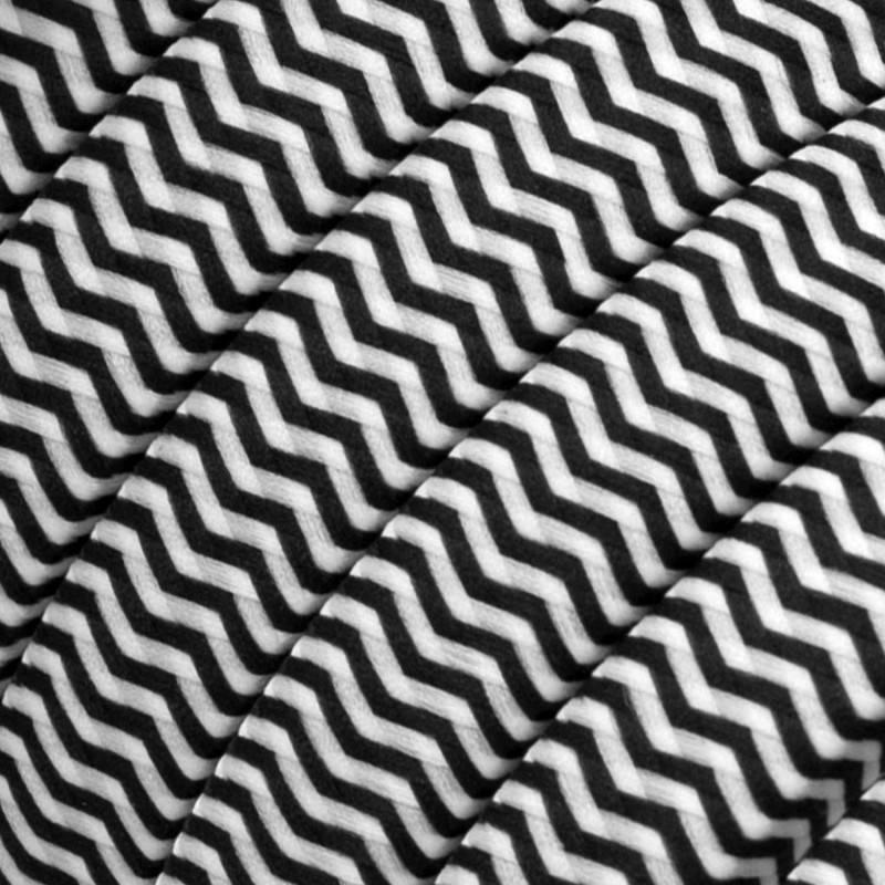 Kit Linear Filé System - con 5m cable textil guirnalda y 7 accesorios de madera pintados de negro