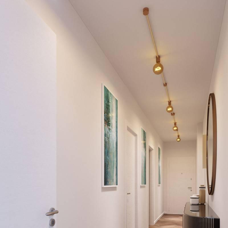 Kit Symmetric Filé System - con 5m cable textil guirnalda y 9 accesorios de madera