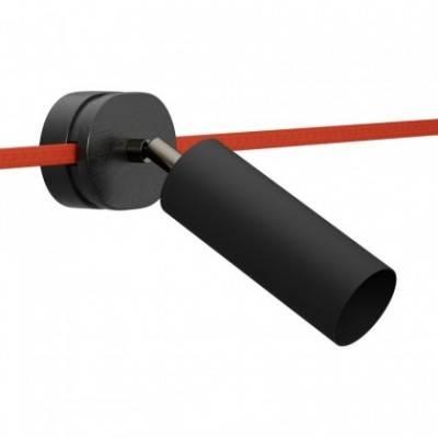 Foco orientable Filè, lámpara de pared con pantalla metal Tub-E14