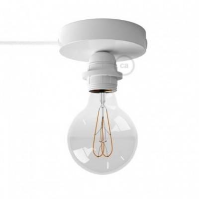 Spostaluce, el punto de luz de metal con bombilla, portalámparas de casquillo E27, cable textil y agujeros laterales
