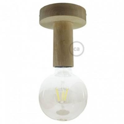 Wood M, lámpara de pared o techo de madera natural pintada