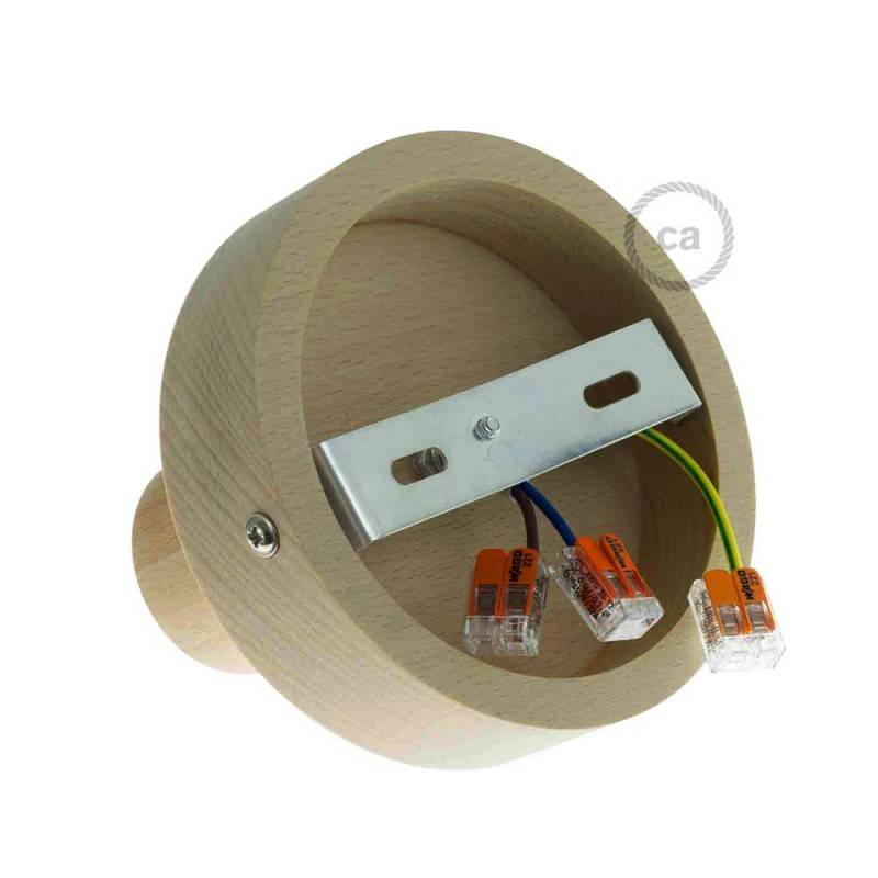 Fermaluce Wood S, lámpara de pared o techo de madera