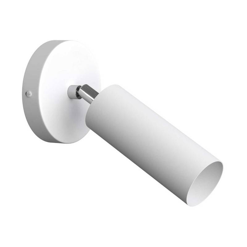 Foco orientable Metal, lámpara de pared metal con pantalla Tub-E14