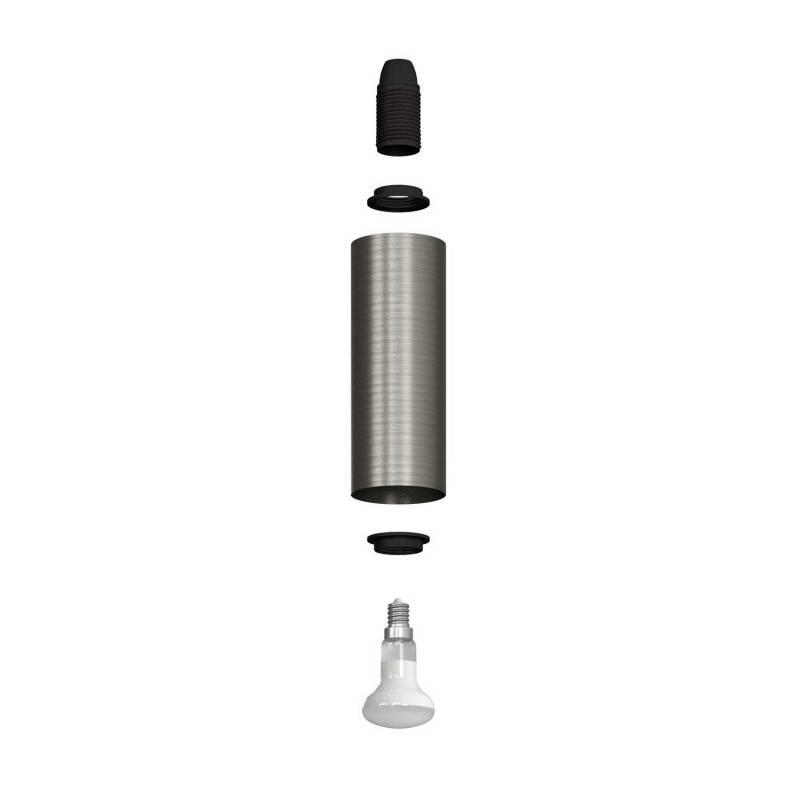 Foco orientable Metal, lámpara de pared metal con pantalla Tub-E14