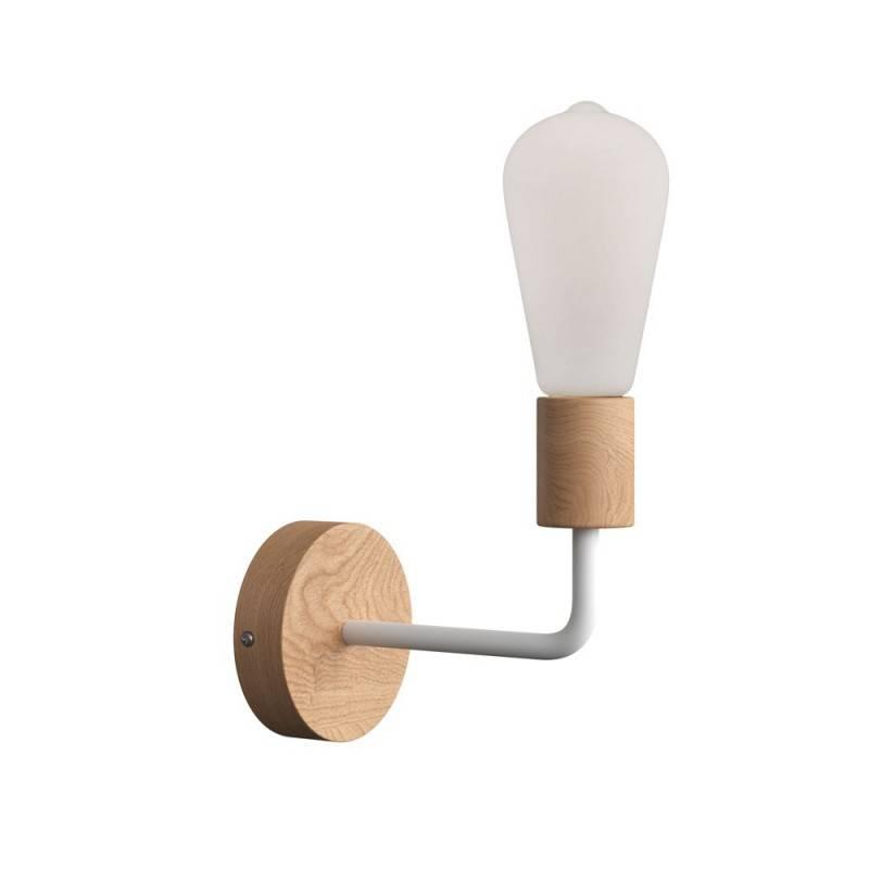 Lámpara de pared Wood de madera con tubo de extensión
