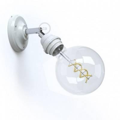 Lámpara de pared o techo Classic 90° de porcelana orientable con portalámparas roscado E27