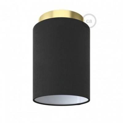 Lámpara de pared o techo Metal con pantalla cilíndrica Ø 15cm h18cm