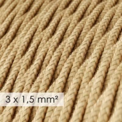 Cable electrico de sección grande 3x1,50 trenzado - Jute TN06