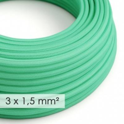 Cable electrico de sección grande 3x1,50 redondo - Tejido Efecto Seda Ópalo RH69