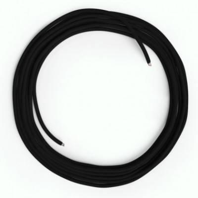 Cable Lan Ethernet Cat 5e sin conectores RJ45 - RM04 Efecto Seda Negro