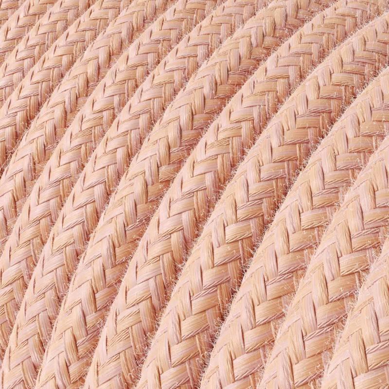 Spider - Lámpara colgante múltiple Made in Italy de 4 caídas completa con cable textil y acabados metálicos
