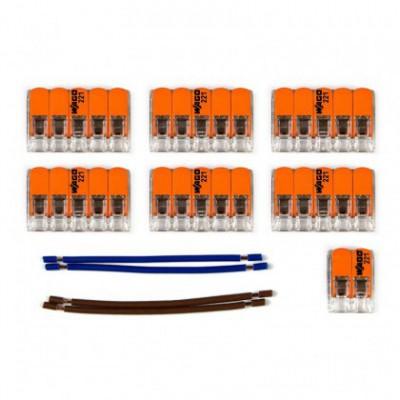 Kit de conexión WAGO compatible con cable 2x para Rosetón de 10 agujeros
