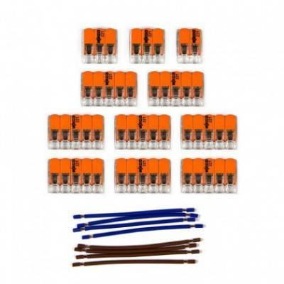 Kit de conexión WAGO compatible con cable 2x para Rosetón de 14 agujeros