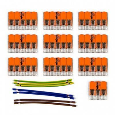 Kit de conexión WAGO compatible con cable 3x para Rosetón de 10 agujeros