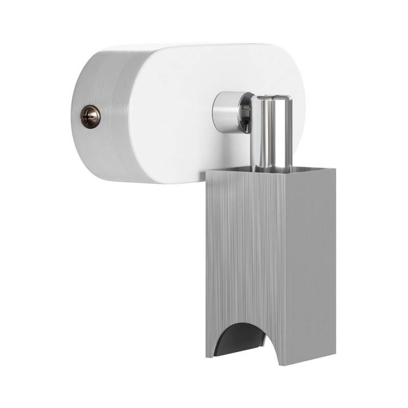 Fermaluce S14 System, lámpara de empotrar a pared orientable con casquillo S14d y rosetón ovalado de madera