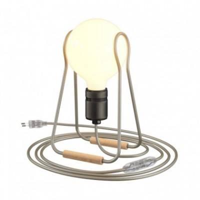 Taché Elegante, lámpara de sobremesa completa con cable textil, interruptor y clavija de 2 polos