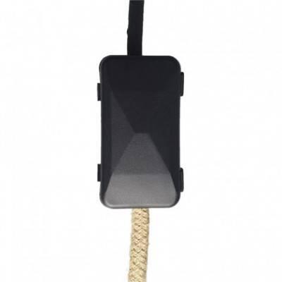 Kit de conexión con caja de protección de cables y pasacable doble