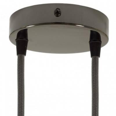 Kit rosetón cilíndrico de metal 2 agujeros