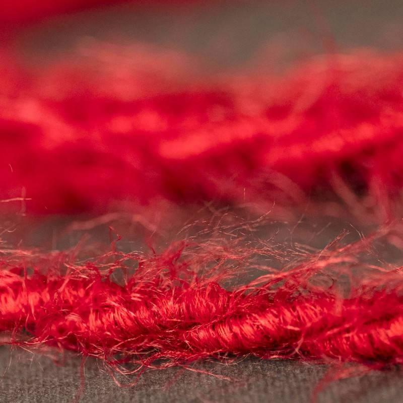 Cable eléctrico trenzado Marlene revestido en tejido efecto Furry Rojo TP09
