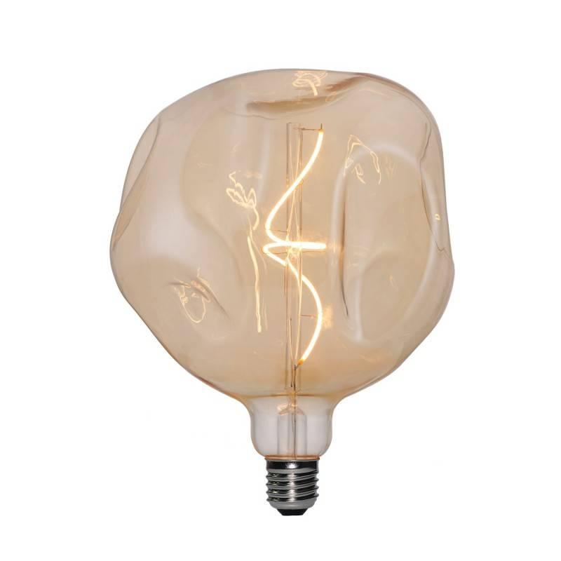 Lámpara colgante Made in Italy con cable textil y acabados en madera