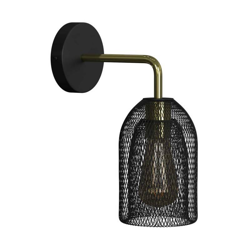 Lámpara de pared Metal Industrial de metal con jaula Ghostbell