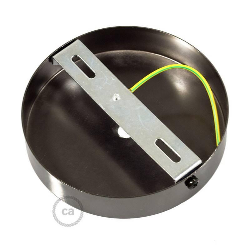 Kit rosetón cilíndrico de metal con prensaestopa de 7cm