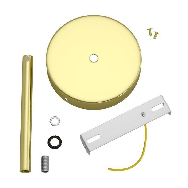 Kit rosetón cilíndrico de metal con prensaestopa de 15cm