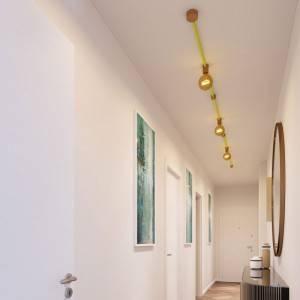 Kit Linear Filé System - con 5m cable textil guirnalda y 7 accesorios de madera