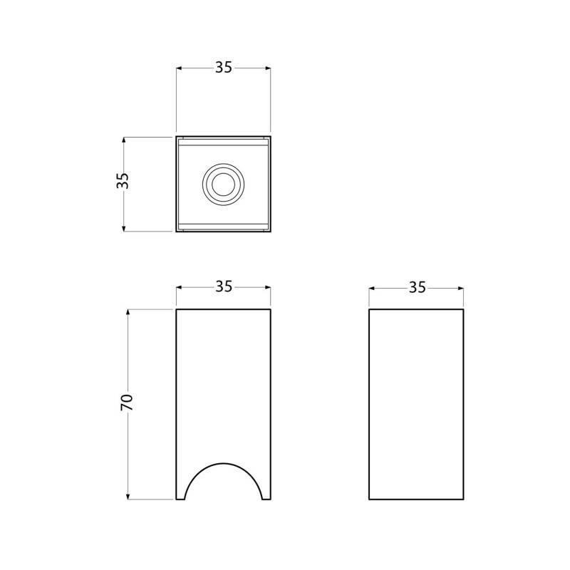 Kit portalámparas Syntax S14d para bombilla LED lineal