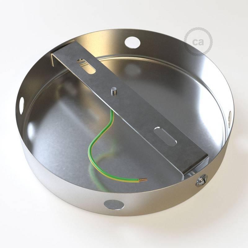 Kit rosetón cilíndrico de metal 4 agujeros laterales (caja de conexión)