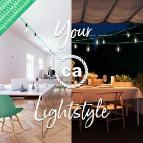 Guirnaldas: iluminación exterior, firmadas por Creative-Cables
