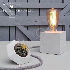 """Mark Lovenjak por Industrial Republic: Lámpara de hormigón """"The Cube"""""""